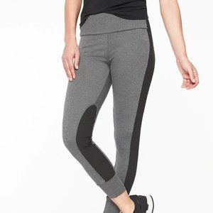 Athleta Essex Hybrid Tights XSP Black Heather